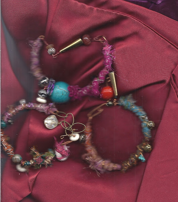 SARI SILK BRACELETS...ALL SALVAGED ITMES IN EACH PIECE