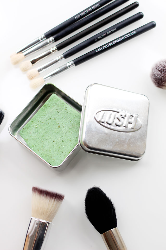Beauty blogger Zoe Newlove writes about how she cleans her make-up brushes using Lush Cosmetics Parsley Porridge soap.