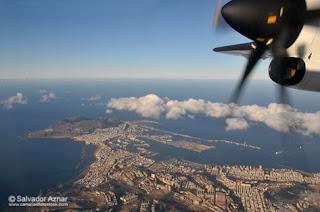 foto desde avión comercial