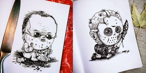 00-Alex-Solis-Baby-Terrors-Drawings-Horror-Movie-Villains-www-designstack-co
