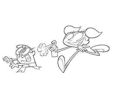 #2 Dexter Laboratory Coloring Page