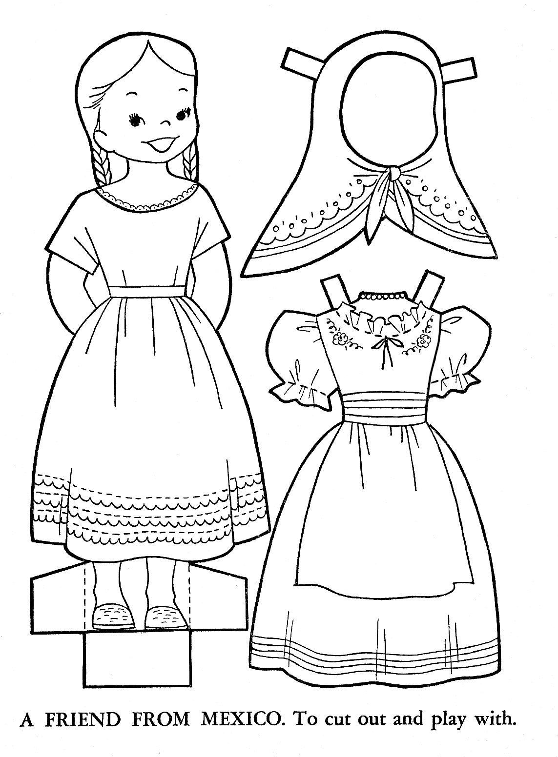 mexican crafts and coloring pages - photo#19