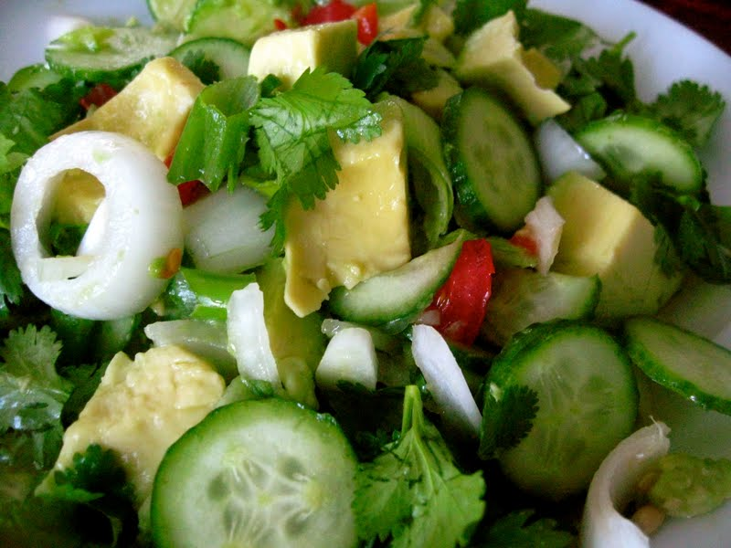 Spicy Lime Cucumber Avocado Salad with a hint of Chili | Sugar Baking ...
