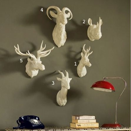 let 39 s stay decorative faux animal heads for your home