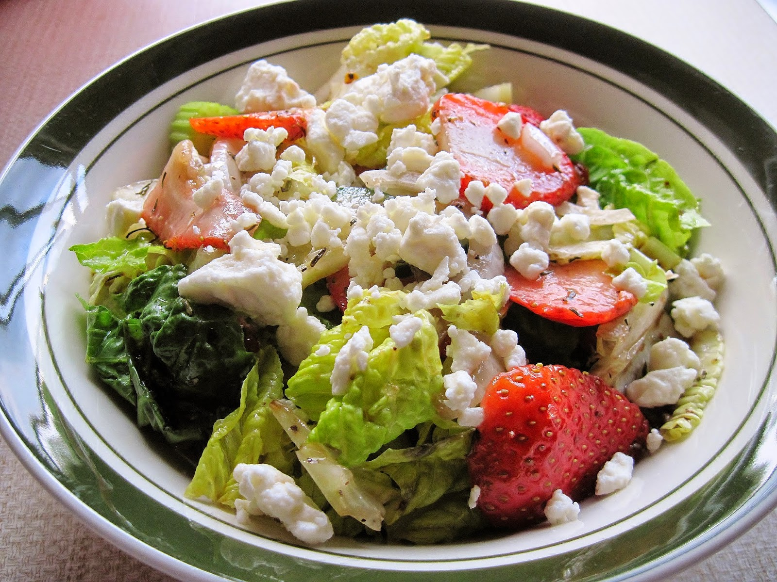 Stawberry salad with chocolate balsamic dressing
