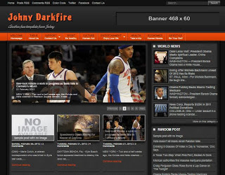 Johny Darkfire Blogger Template