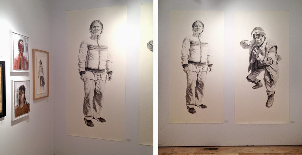 Drawings by Joel Daniel Phillips at Scope Art Fair, Miami