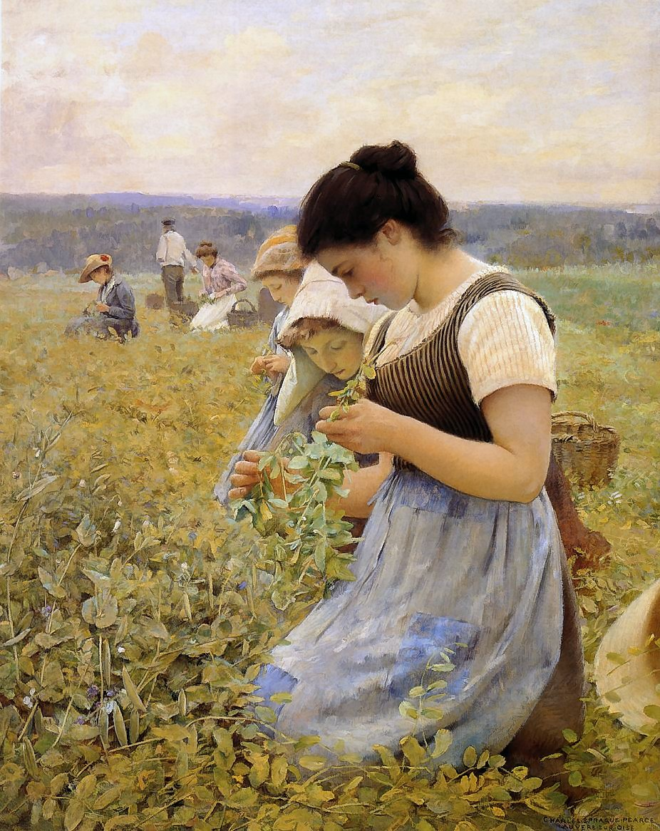 Charles  Sprague  Pearce  women  in  the  fields