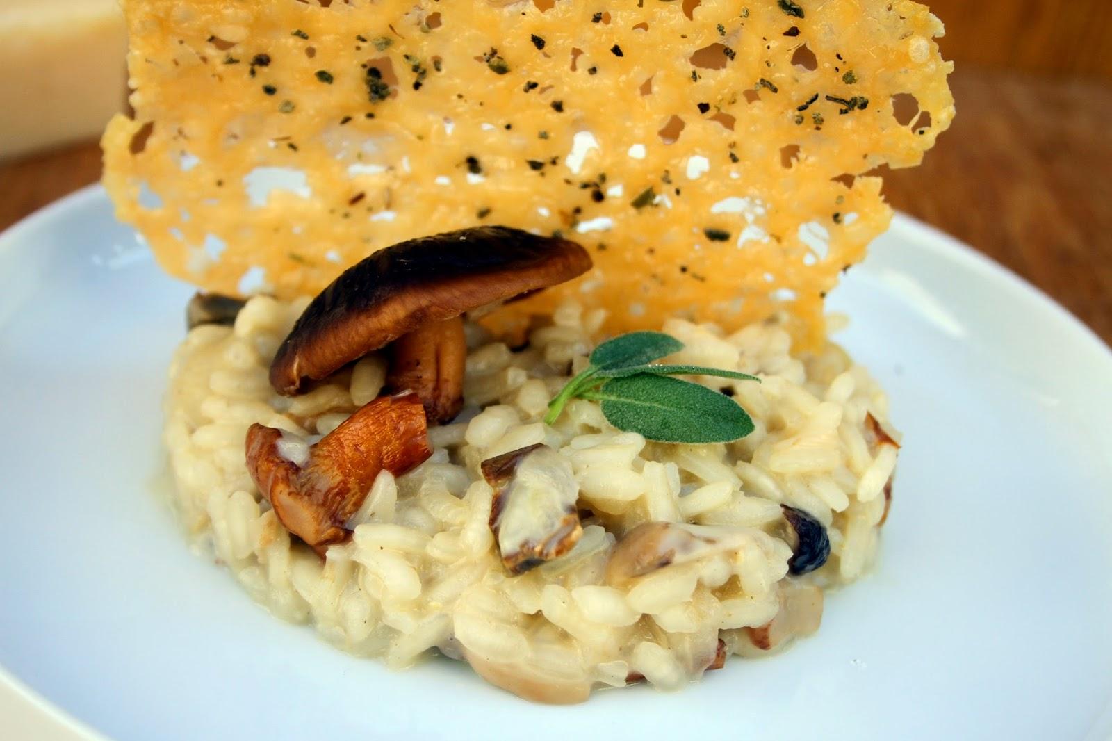 Amapola el mundo en un plato risotto de setas con chip - Risoto con setas ...