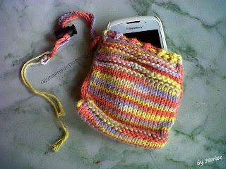 Kantong Ponsel Rajut, Poyeng hobby, Sweet Cotton Poyeng