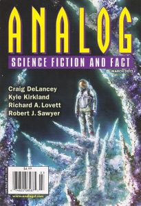 Cover of the March 2012 issue of Analog Science Fiction and Fact magazine