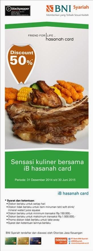 Nikmati sajian western food di Blackpepper dengan iB hasanah card