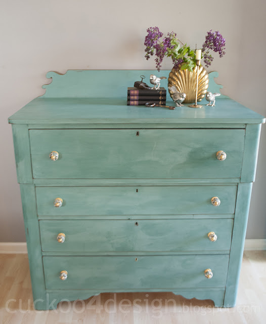 CeCe Clawell's Destin Gold Green dresser chalk paint by cuckoo4design