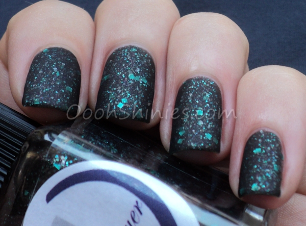 Cadillacquer Bring On The Night with matte top coat