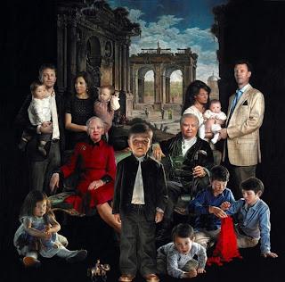 Cuadro de la Familia Real de Dinamarca creada por el artista danés Thomas Kluge
