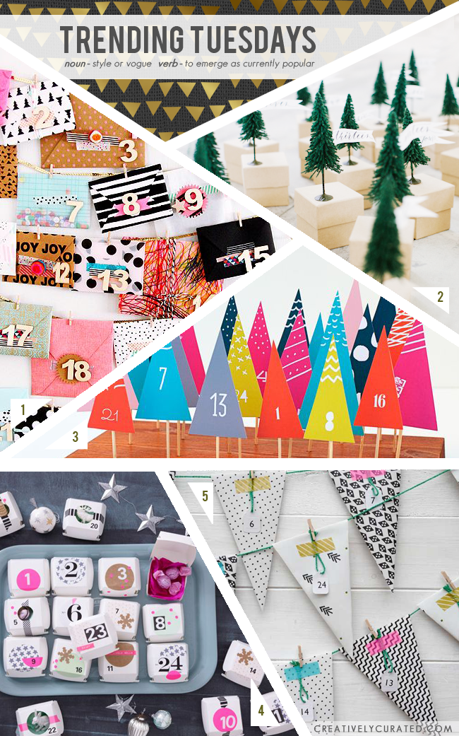 Trending Tuesdays : Advent Calendars || Shared on CreativelyCurated.com #creativelycurated