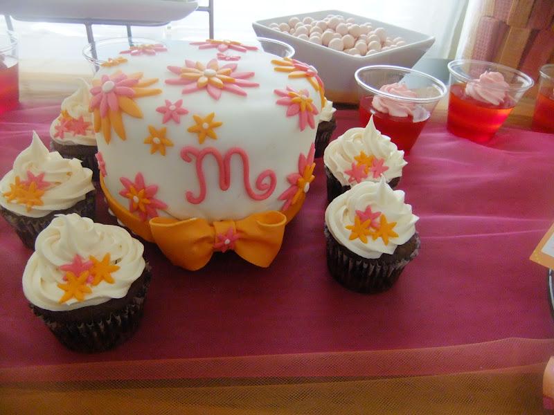 Cakefullness Pink And Orange Baby Shower Cake