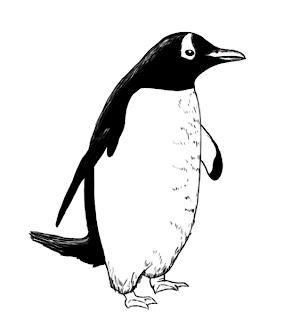 how to draw a penguin easy
