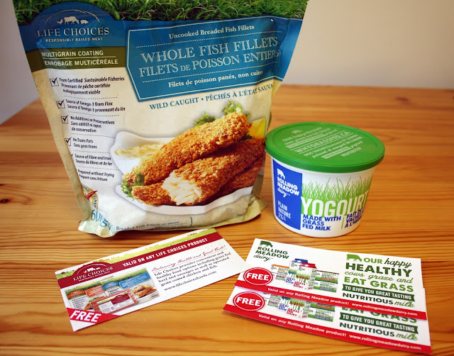 Life Choices Natural food whole fish fillets and Rolling Meadows Dairy yoghurt