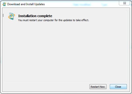 selesai instal update KB2685811