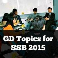 GD Topics for SSB 2015
