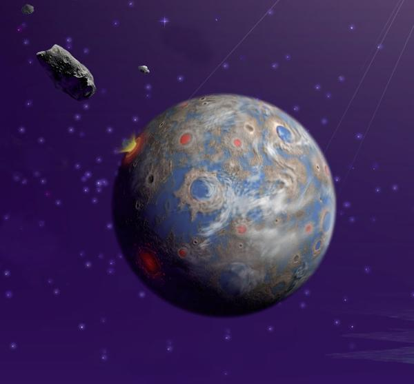 A new CU-Boulder study shows that an asteroid believed to have smacked Earth some 66 million years ago likely caused a global firestorm that led to extensive plant and animal extinctions. Credit: NASA/JPL