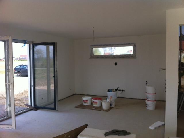 unser hausbau mit bei ner hochbau fertig gestrichen. Black Bedroom Furniture Sets. Home Design Ideas