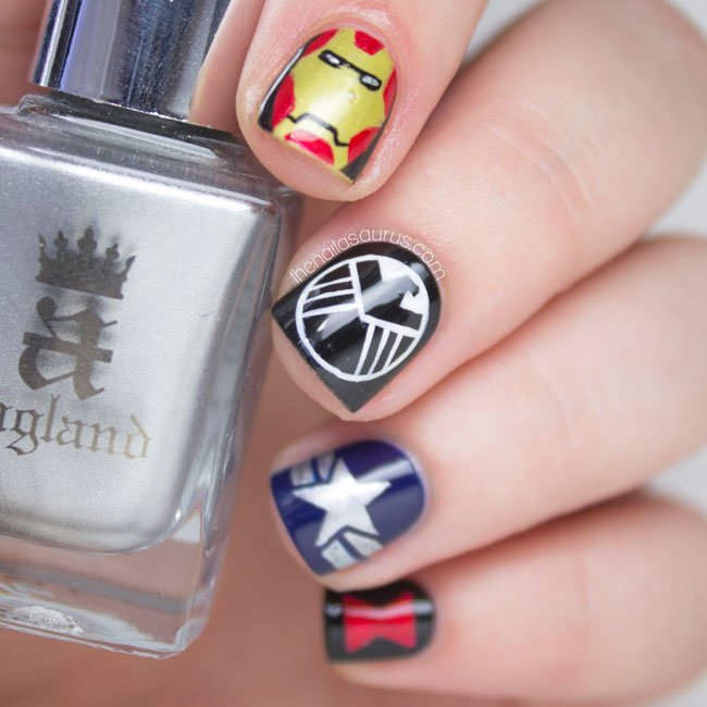 Marvel S.H.I.E.L.D. Nail Art // The Nailasaurus