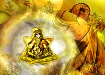 Fotos e imágenes caballero del zodiaco Shaka de Virgo.