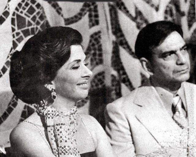 """Betty Faria e Lima Duarte durante as gravações da primeira versão de """"Roque Santeiro"""""""