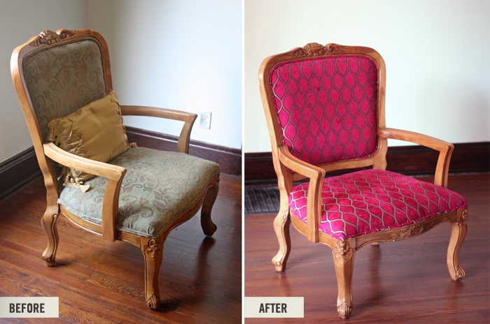 Charming Reupholstered Craigslist Chair Project
