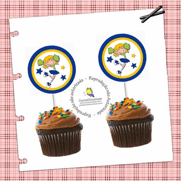 toppers para docinhos e cupcake