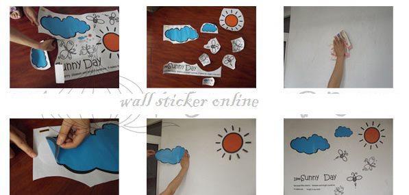 supplier -agen - grosir wallsticker: cara memasang sticker