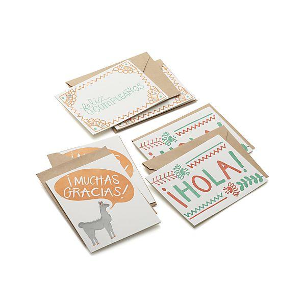 spanish notecards
