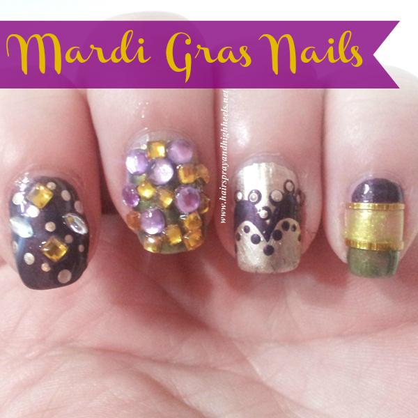 Mardi Gras Nail Art: NOTD