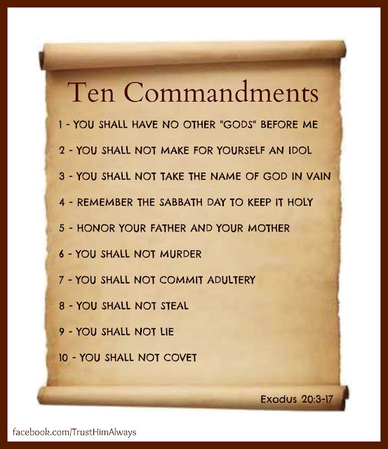 Slobbery image for the ten commandments printable