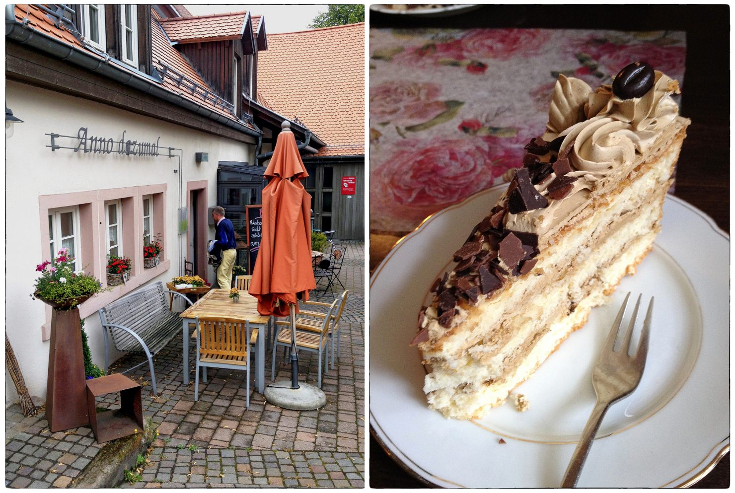 Im Cafe Anno dazumal in Dannenfels warten auf Besucher nicht nur leckere hausgemachte Torten und Kuchen, sondern auch hervorragende Kaffees aus der Kaffeeroesterei Weidmann (Kirchheimbolanden)