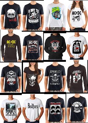 outros modelos de camisetas