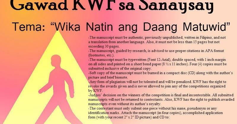 wikang filipino daang matuwid essay typer