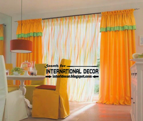 kitchen curtains designs ideas 2016, long thick curtains for kitchens, yellow curtains