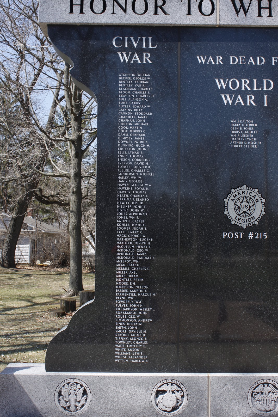 Wisconsin Historical Markers Pardeeville World War I Memorial
