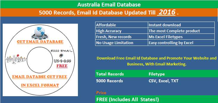 Download Free Email Address Database