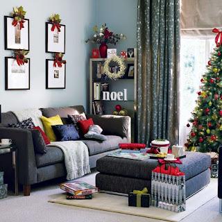 decorando sala de estar para o natal