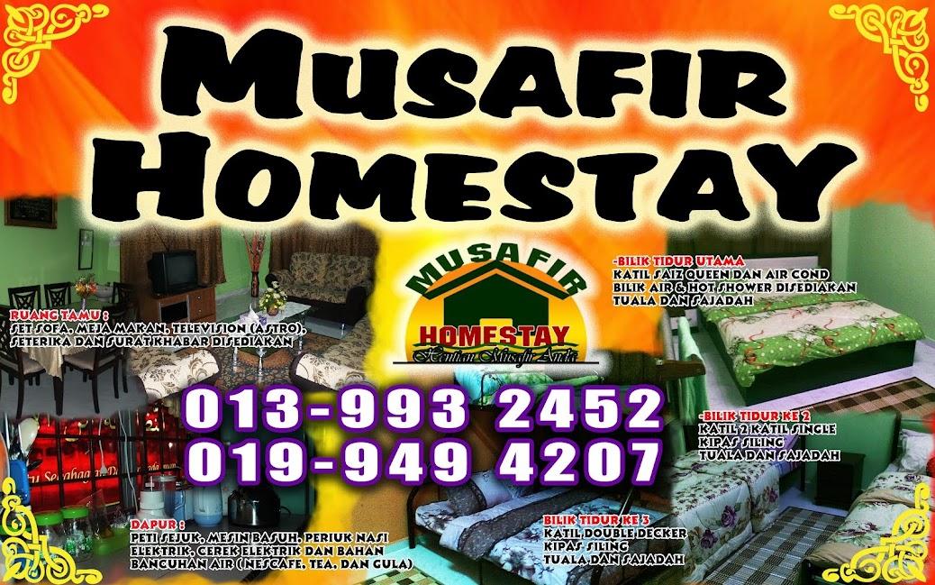 Homestay Terengganu, Musafir Homestay, Gong Badak Kuala Terengganu.