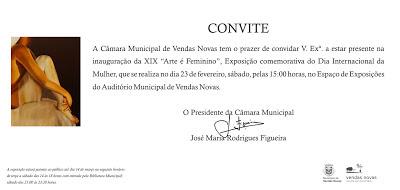 """19ª exposição do Dia Internacional da Mulher """"Arte É Feminino"""""""