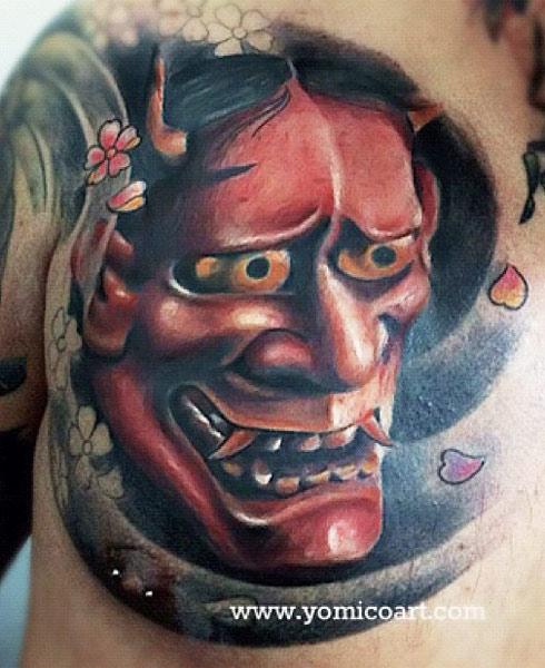 Hình xăm mặt quỷ thường mang lại ý nghĩa