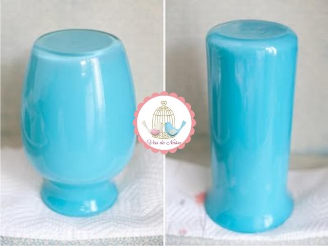 DIY Como Pintar Garrafas e Potes de Vidro