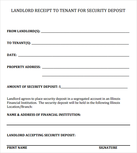 Rent Receipt Template Word Document Template Examples – Rental Receipts for Tenants