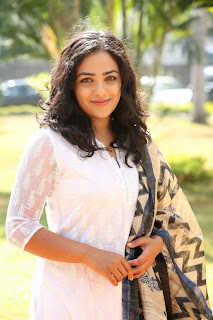 Nithya Menon Picture Gallery in White Salwar Kameez at Malli Malli Idi Rani Roju Success Meet ~ Celebs Next