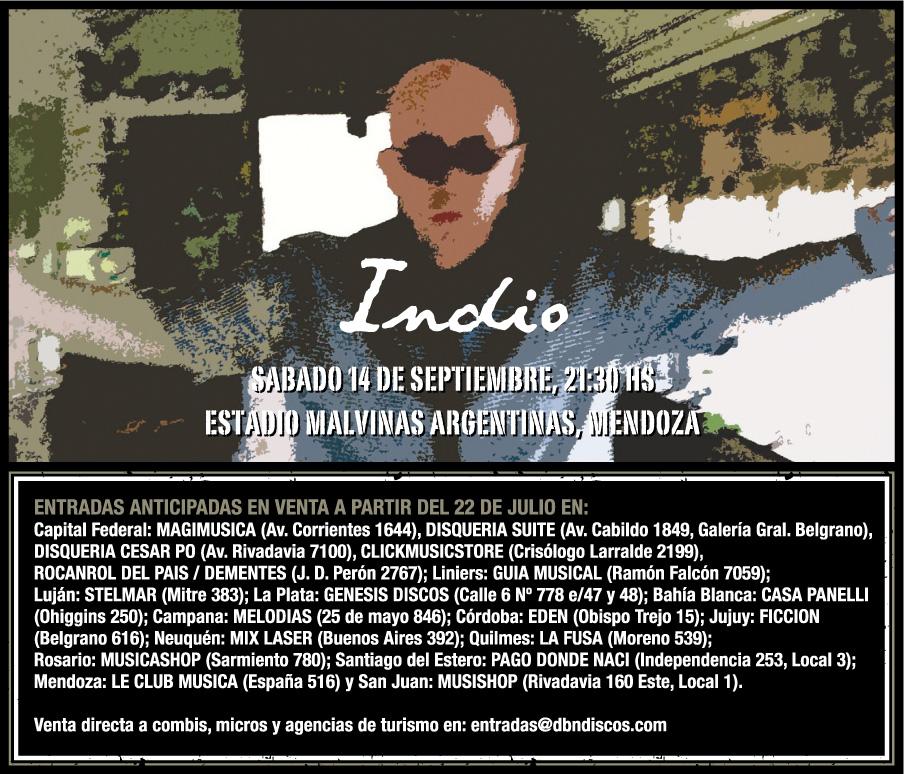 Redonditos de abajo indio en mendoza 14 septiembre Casa de musica belgrano